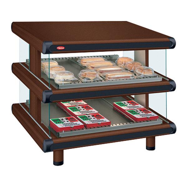 "Hatco GR2SDS-48D Antique Copper Glo-Ray Designer 48"" Slanted Double Shelf Merchandiser - 120/240V"