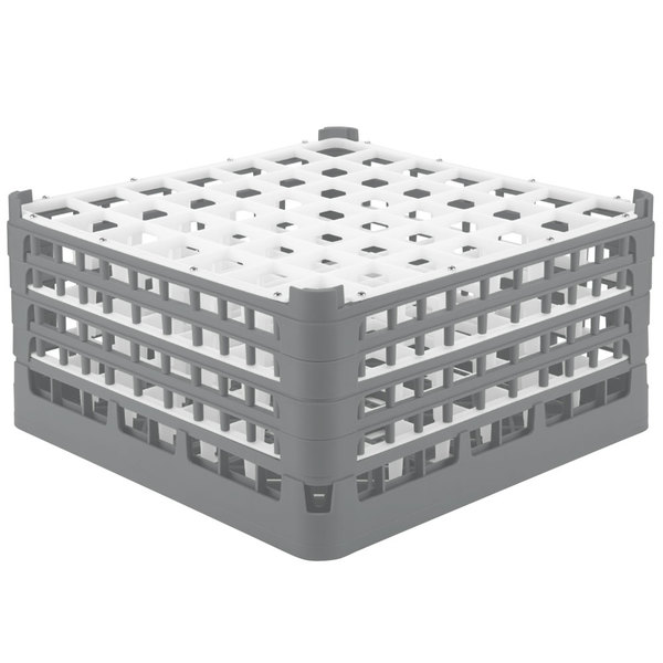 "Vollrath 52725 Signature Full-Size Gray 49-Compartment 8 1/2"" XX-Tall Glass Rack Main Image 1"