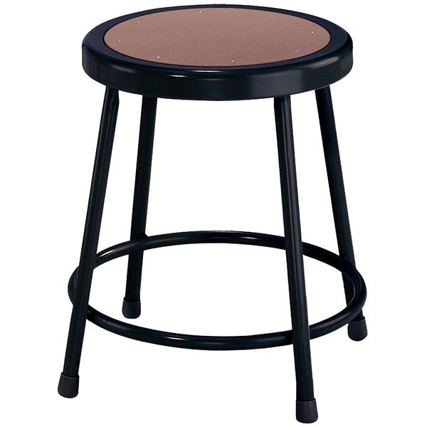 National Public Seating 6218 Black 18 Quot Hardboard Round Lab