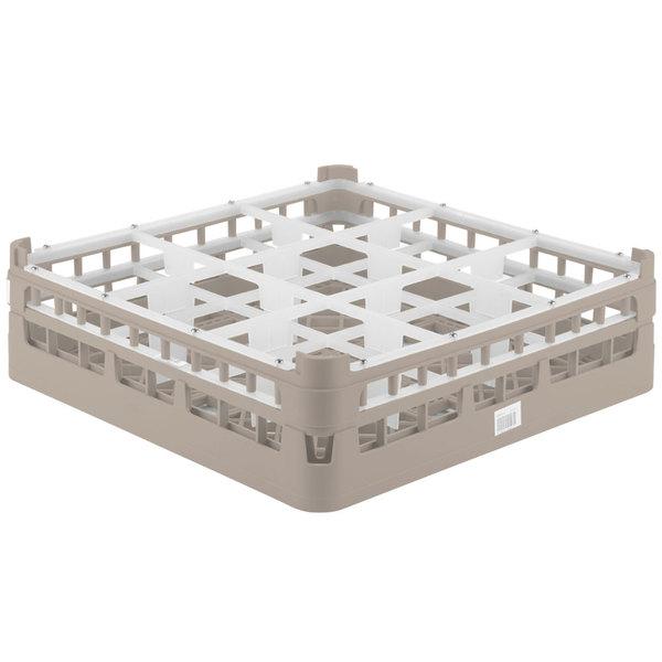 """Vollrath 52727 Signature Full-Size Beige 9-Compartment 4 5/16"""" Medium Glass Rack Main Image 1"""