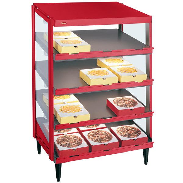 """Hatco GRPWS-2418Q Warm Red Glo-Ray 24"""" Quadruple Shelf Pizza Warmer - 120/208V, 1920W"""