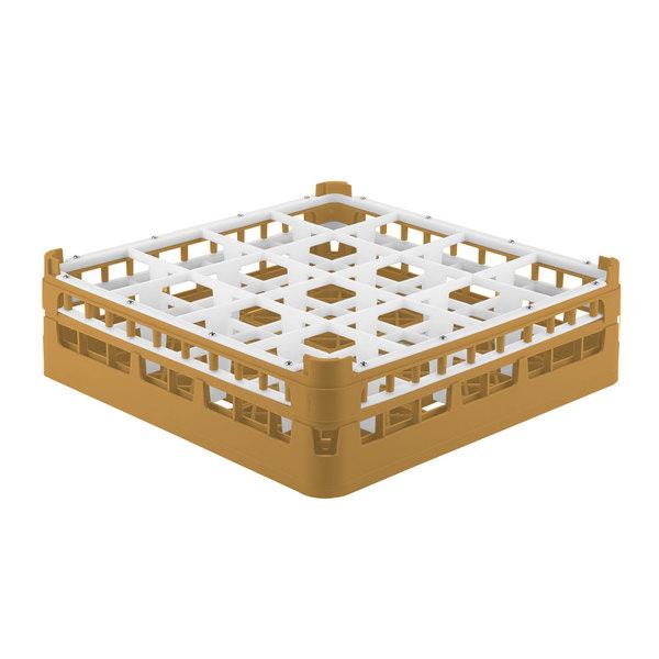 """Vollrath 52718 Signature Full-Size Gold 16-Compartment 4 5/16"""" Medium Glass Rack Main Image 1"""