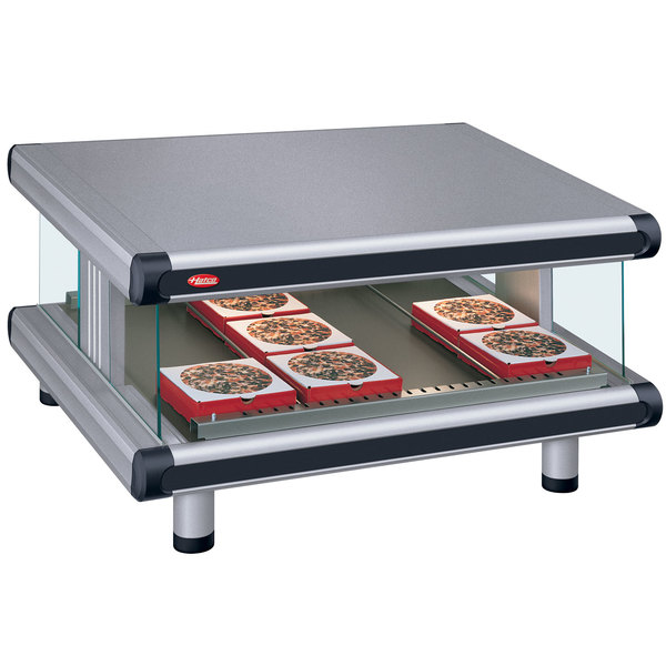 """Hatco GR2SDS-48 Gray Granite Glo-Ray Designer 48"""" Slanted Single Shelf Merchandiser - 120V"""
