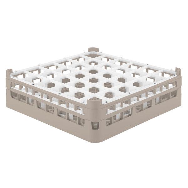 """Vollrath 52714 Signature Full-Size Beige 36-Compartment 4 5/16"""" Medium Glass Rack"""