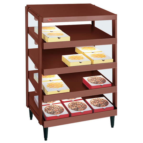 "Hatco GRPWS-2424Q Antique Copper Glo-Ray 24"" Quadruple Shelf Pizza Warmer - 120/208V, 2400W"