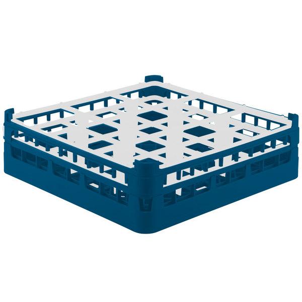 "Vollrath 52761 Signature Full-Size Royal Blue 9-Compartment 4 13/16"" Medium Plus Glass Rack Main Image 1"