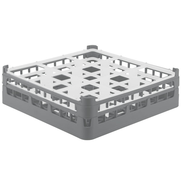 "Vollrath 52761 Signature Full-Size Gray 9-Compartment 4 13/16"" Medium Plus Glass Rack"
