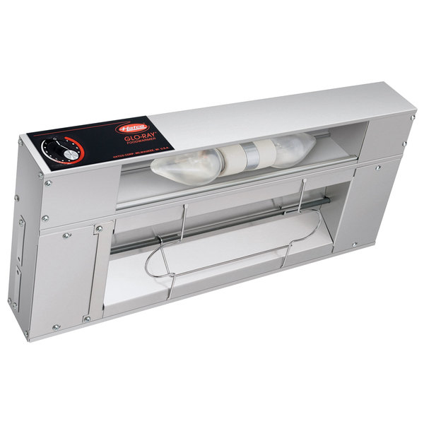 """Hatco GRAL-18 Glo-Ray 18"""" Aluminum Single Infrared Lighted Warmer with Infinite Controls - 120V, 370W"""