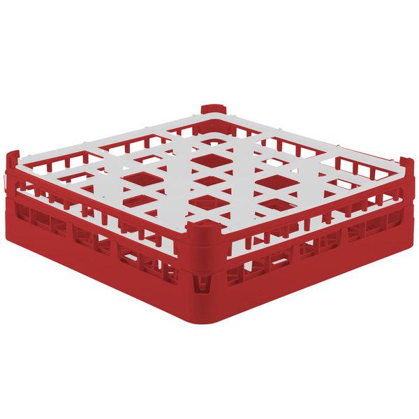 """Vollrath 52761 Signature Full-Size Red 9-Compartment 4 13/16"""" Medium Plus Glass Rack Main Image 1"""