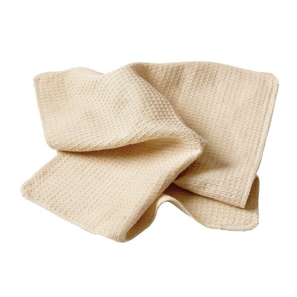 """Chef Revival 700WT 18"""" x 18"""" Natural Waffle-Weave Bar Towel - 12/Pack"""