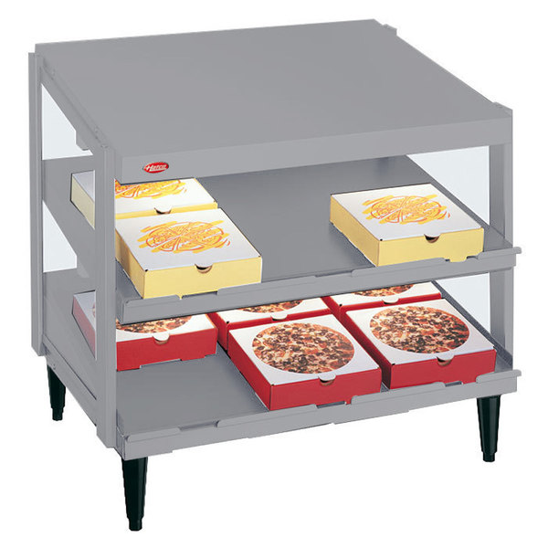 "Hatco GRPWS-3618D Granite White Glo-Ray 36"" Double Shelf Pizza Warmer - 1440W"