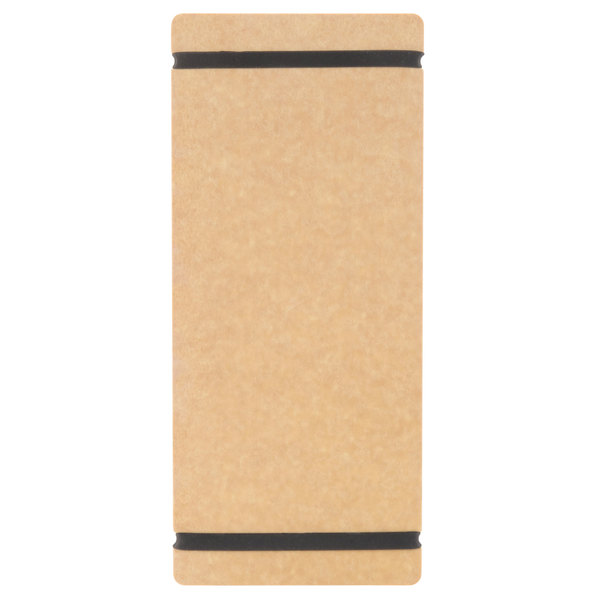 Cal-Mil 2034-411-14 4 inch x 11 inch Natural Menu Board with Flex Bands