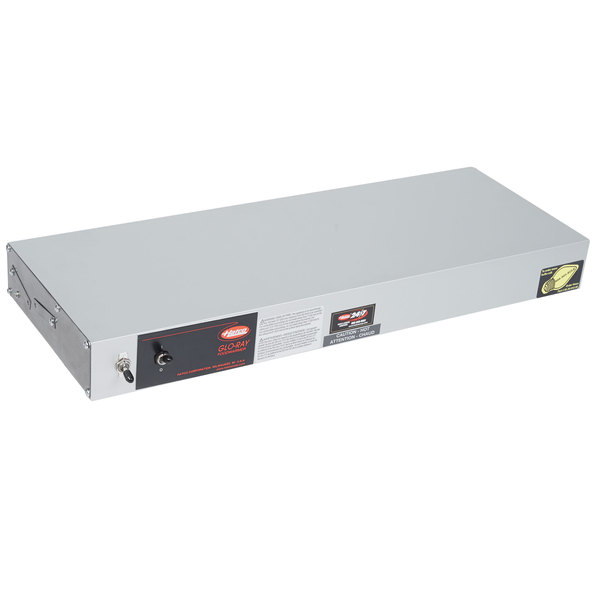 """Hatco GRAL-24 Glo-Ray 24"""" Aluminum Single Infrared Lighted Warmer with Toggle Controls - 120/208V, 470W Main Image 1"""