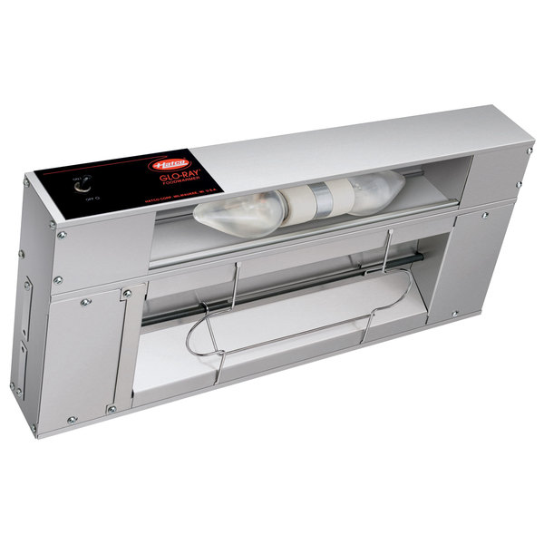 """Hatco GRAL-18 Glo-Ray 18"""" Aluminum Single Infrared Lighted Warmer with Toggle Controls - 120/208V, 370W"""