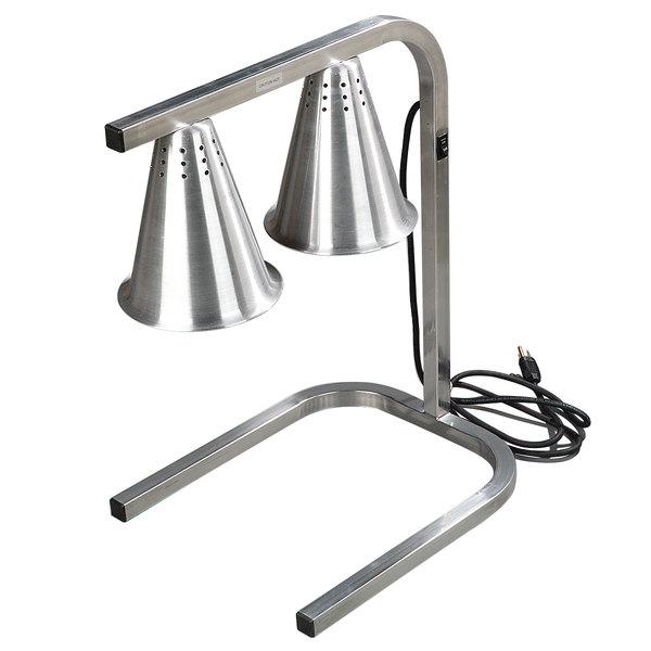 Carlisle HL723700 Two Bulb Freestanding Adjustable Aluminum Heat Lamp - 120V