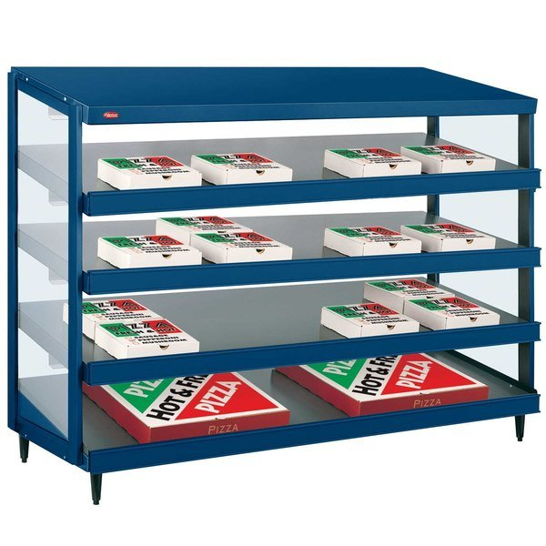 "Hatco GRPWS-4824Q Navy Blue Glo-Ray 48"" Quadruple Shelf Pizza Warmer - 120/240V, 4780W"