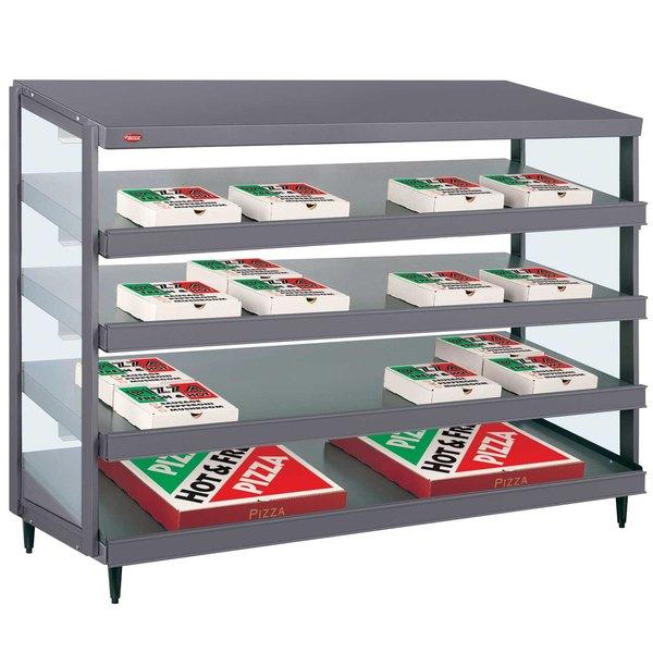 "Hatco GRPWS-4824Q Granite Gray Glo-Ray 48"" Quadruple Shelf Pizza Warmer - 120/240V, 4780W"