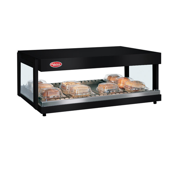 "Hatco GRSDH-52 Black Glo-Ray 52"" Horizontal Single Shelf Merchandiser - 120V"