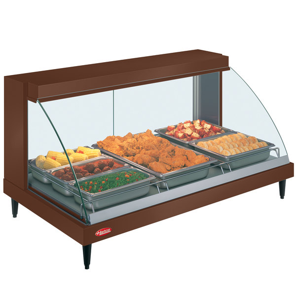 "Hatco GRCD-3P Copper 45"" Glo-Ray Full Service Single Shelf Merchandiser - 120V, 1005W"
