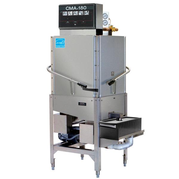 CMA Dishmachines CMA-180C Single Rack High Temperature Corner Dishwasher with Booster Heater - 208/240V, 3 Phase