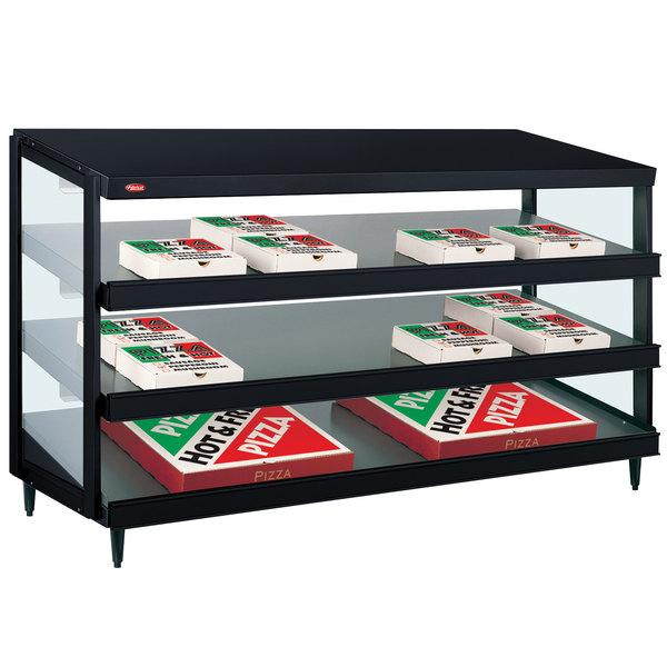 "Hatco GRPWS-4818T Black Glo-Ray 48"" Triple Shelf Pizza Warmer - 120/240V, 2880W"