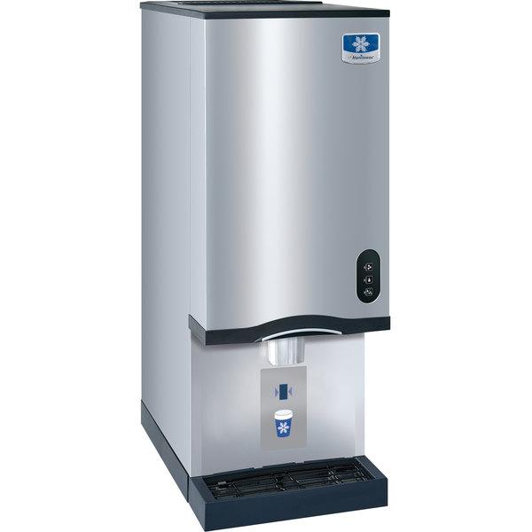 Manitowoc RNS-20AT Air Cooled Countertop Ice Maker and Water Dispenser - 20 lb. Bin with Sensor Dispensing