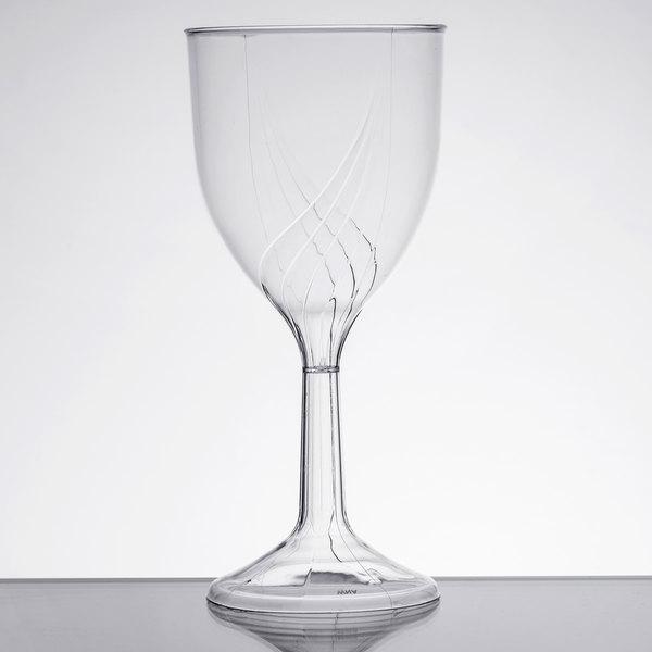 WNA Comet CWSWN6 6 oz. 1-Piece Clear Plastic Classicware Wine Glass - 100/Case Main Image 1