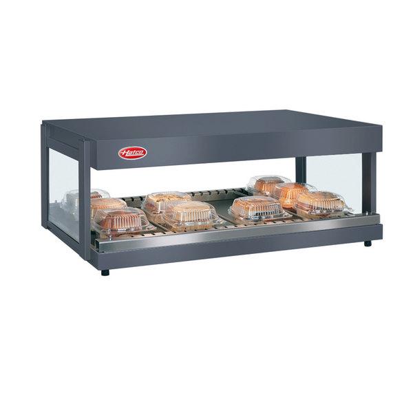 "Hatco GRSDH-60 Gray Granite Glo-Ray 60"" Horizontal Single Shelf Merchandiser - 120/240V"