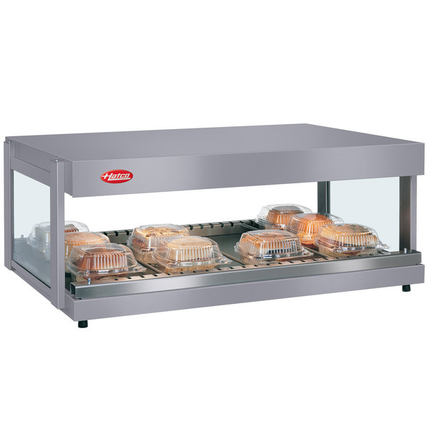 "Hatco GRSDH-30 Gray Granite Glo-Ray 30"" Horizontal Single Shelf Merchandiser - 120V"