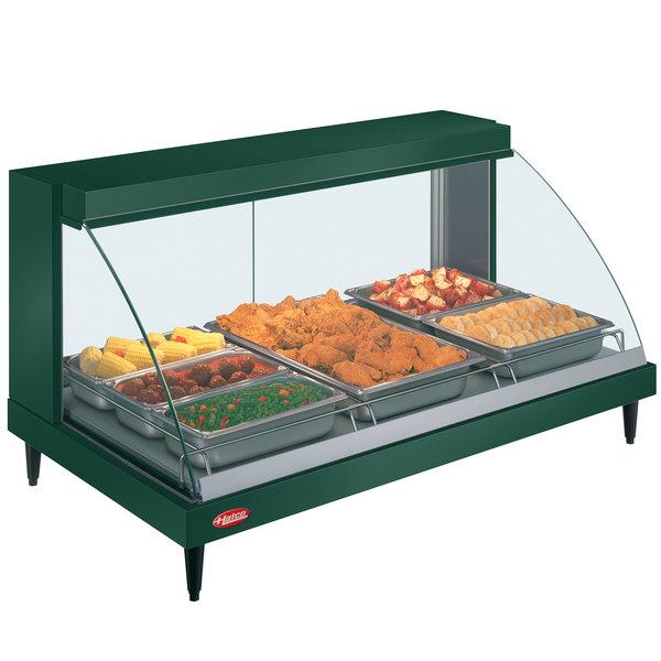 "Hatco GRCD-3P Green 45"" Glo-Ray Full Service Single Shelf Merchandiser - 120V, 1005W"