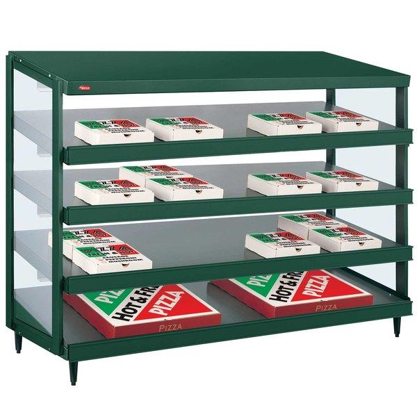 "Hatco GRPWS-4824Q Hunter Green Glo-Ray 48"" Quadruple Shelf Pizza Warmer - 120/208V, 4780W"