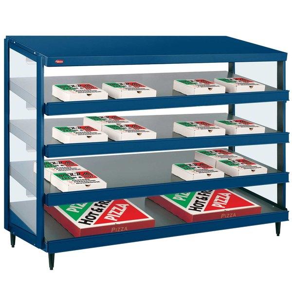 "Hatco GRPWS-4818Q Navy Blue Glo-Ray 48"" Quadruple Shelf Pizza Warmer - 120/208V, 3840W"
