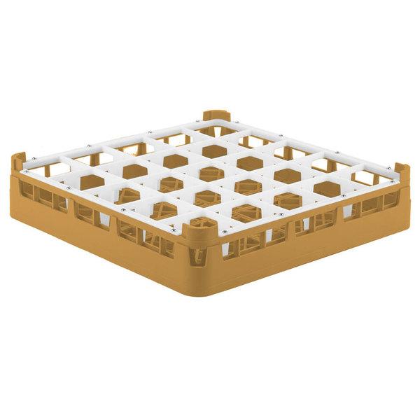 "Vollrath 52772 Signature Full-Size Gold 25-Compartment 3 1/4"" Short Plus Glass Rack"