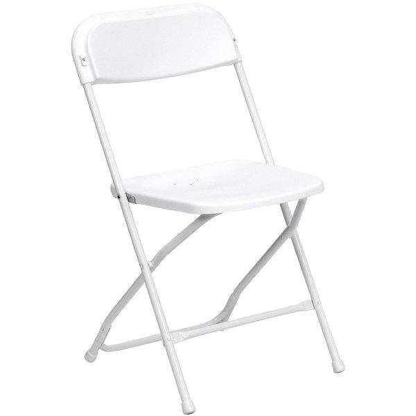 Flash Furniture LE-L-3-WHITE-GG White Folding Chair