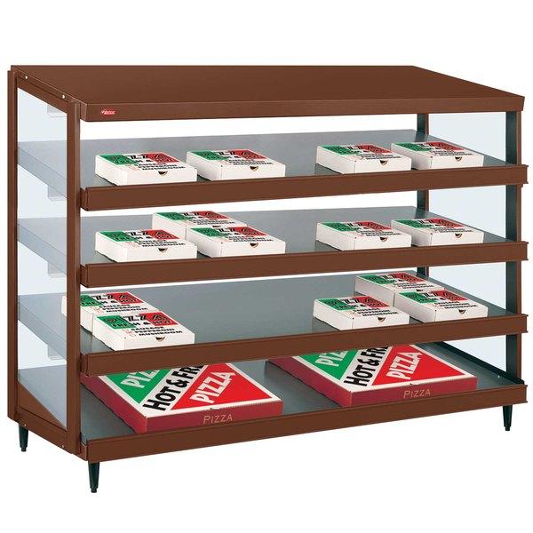 """Hatco GRPWS-4818Q Antique Copper Glo-Ray 48"""" Quadruple Shelf Pizza Warmer - 120/240V, 3840W"""