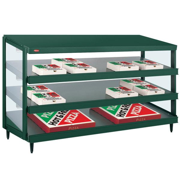 "Hatco GRPWS-4818T Hunter Green Glo-Ray 48"" Triple Shelf Pizza Warmer - 120/208V, 2880W"