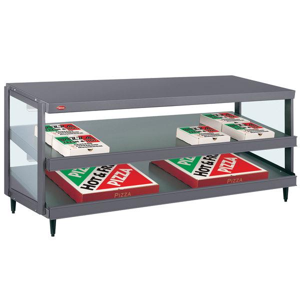 "Hatco GRPWS-4824D Granite Gray Glo-Ray 48"" Double Shelf Pizza Warmer - 120/208V, 2390W"