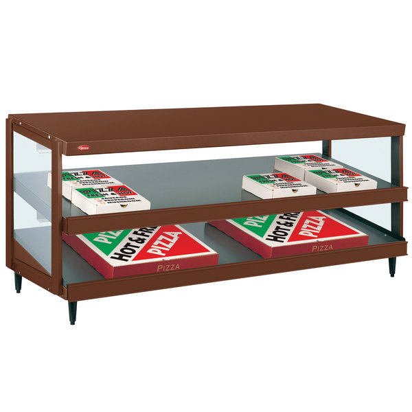 """Hatco GRPWS-4818D Antique Copper Glo-Ray 48"""" Double Shelf Pizza Warmer - 120/240V, 1920W"""