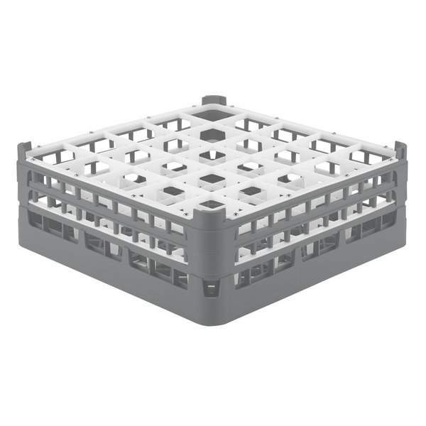 "Vollrath 52774 Signature Full-Size Gray 25-Compartment 6 1/4"" Tall Plus Glass Rack Main Image 1"