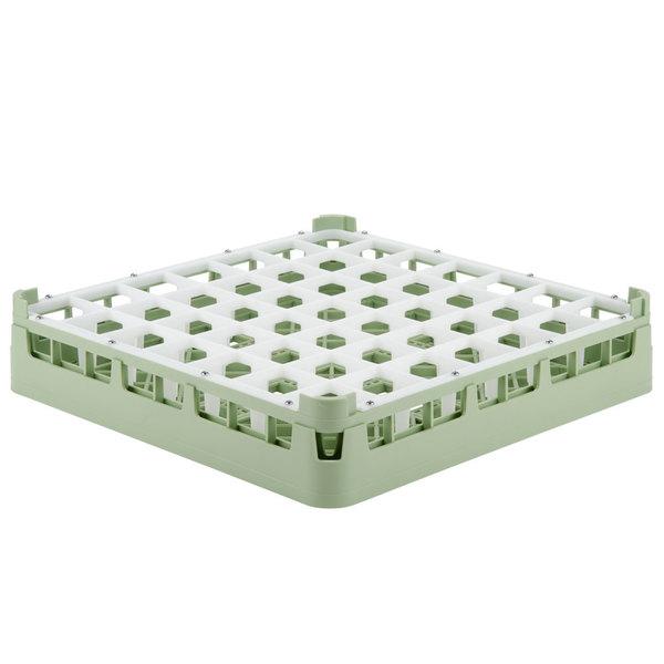 "Vollrath 52784 Signature Full-Size Light Green 49-Compartment 3 1/4"" Short Plus Glass Rack"