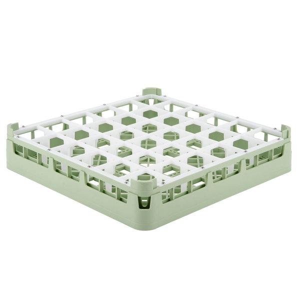 "Vollrath 52778 Signature Full-Size Light Green 36-Compartment 3 1/4"" Short Plus Glass Rack Main Image 1"