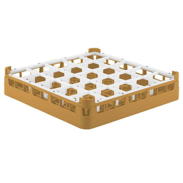 "Vollrath 52684 Signature Full-Size Gold 25-Compartment 2 13/16"" Short Glass Rack Main Image 1"