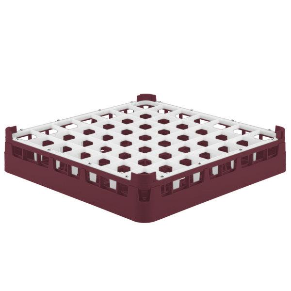 "Vollrath 52784 Signature Full-Size Burgundy 49-Compartment 3 1/4"" Short Plus Glass Rack Main Image 1"