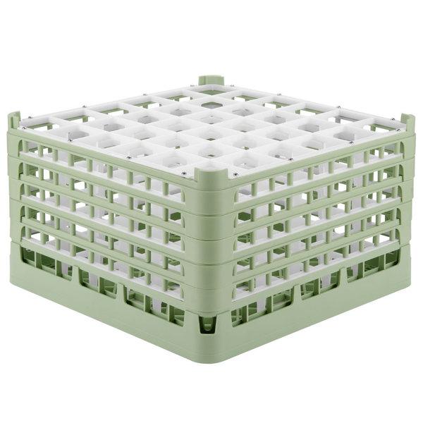 "Vollrath 52783 Signature Full-Size Light Green 36-Compartment 10 9/16"" XXX-Tall Plus Glass Rack Main Image 1"