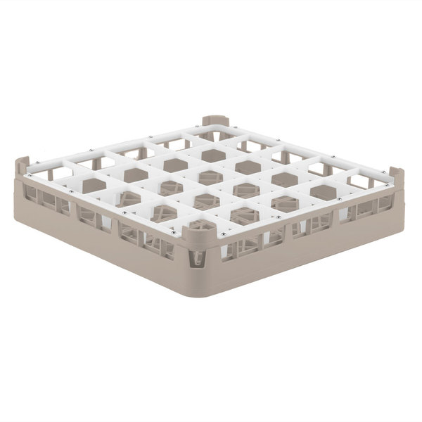 "Vollrath 52684 Signature Full-Size Beige 25-Compartment 2 13/16"" Short Glass Rack Main Image 1"
