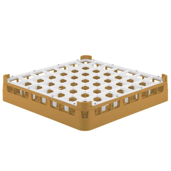 "Vollrath 52784 Signature Full-Size Gold 49-Compartment 3 1/4"" Short Plus Glass Rack Main Image 1"