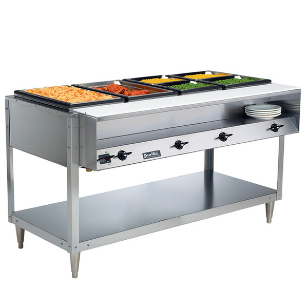 Vollrath 38118 ServeWell Electric Four Pan Hot Food Table 208/240V - Sealed Well Main Image 4