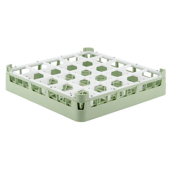 "Vollrath 52684 Signature Full-Size Light Green 25-Compartment 2 13/16"" Short Glass Rack Main Image 1"