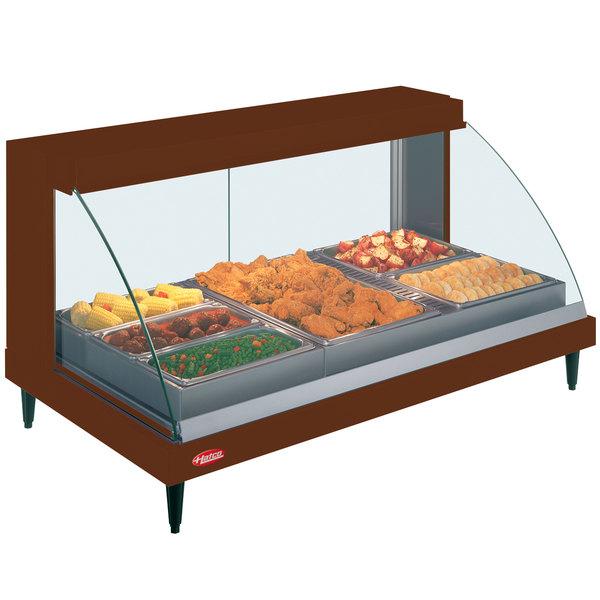 "Hatco GRCDH-3P Copper 46"" Glo-Ray Full Service Single Shelf Merchandiser with Humidity Controls - 1255W"
