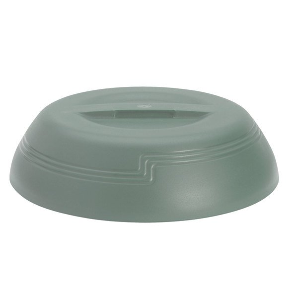 """Cambro MDSLD9447 Meadow Green Low Profile Insulated Dome Cover for 9"""" Plates - 12/Case"""